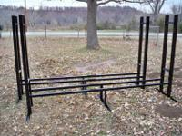 Completely Welded Firewood Rack. Holds 1 face cord or