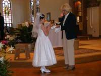 First communion dress by Cinderella. Size 10. Worn once