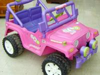 "Fischer Price Power Wheel ""Barbie Jeep"" with charger"