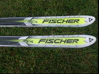 These are Fischer RS RC4 racing skis. They have