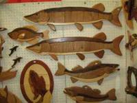 We have Musky, Walleye, Lg mouth bass, trout in