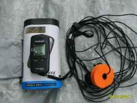 This is a portable HawkEye fish finder. It was