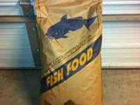 Fish food for sale. 32% protein, 4% fat, floating fish