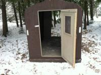 Portable fish house 5' X 8' wood bottom two walls that