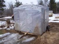 This nice 8' x 8' fish house would make a real nice