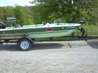MFG Super Bass boat,15' length includes 48 hp evinrude