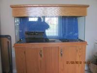 55 Gallon Fish tank: include stand, hood/lights, 2