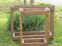 Fish tank stands for sale. Wooden stands that can hold