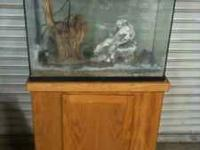 Fish tank 40 gallon 30 inches wide, 12 inches deep, 24