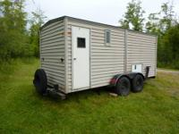 This trailer is perfect for a fish house or hunting