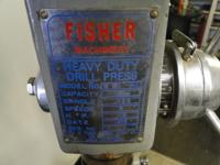 FISHER HEAVY DUTY SHOP DRILL PRESS WITH STAND 1/2HP, in