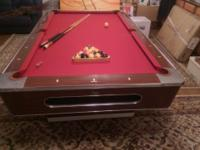 Nice pool table in good condition, new felt. came with