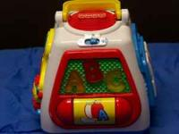 FISHER PRICE 4-SIDED ACTIVITY FLOOR TOY, MUSICAL Here