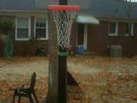 Selling my sons Basketball Goal. This basketball goal