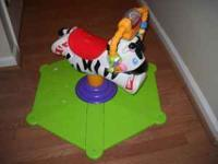 Fisher-Price Baby Gymtastics Bounce & Spin Zebra in
