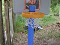 4 foot hoop up to 6 feet comes with one basketball base