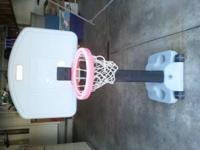 For Sale: 1) Fisher Price Basketball hoop elevates up