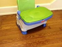 Great Fisher-Price booster seat with removable tray,