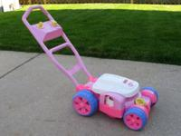 Like new/ Girls fisher price bubble mower My grand