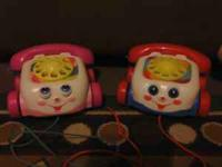 Fisher Price Chatter Phones Pink or Blue $3 each