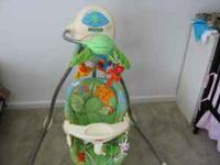 Fisher Price Cradle Rainforest Swing - $55 - Very good