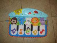 Fisher Price Ocean Wonders Crib to Floor Piano. Great
