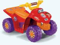 Used Dora Lil Quad Power Wheels. In great condition,