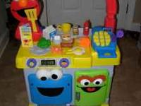 For sale is a Fisher-Price Elmo's Restaurant we