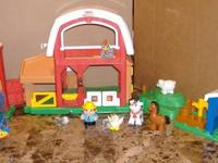 Fisher Price Farm Little People Sounds Farm Silo +