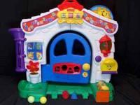 FISHER PRICE LAUGH & LEARN HOME, MUSICAL AND LIGHTED --
