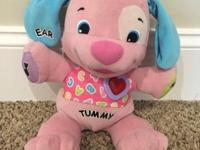 Cute Fisher Price Laugh and Learn puppy in pink! Good