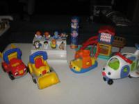 Fisher Price Little People Airplane, Boat, Construction