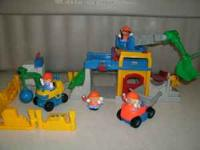 This set includes the crane with a Little People