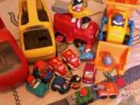This is a lot of vehicles by fisher price and one by