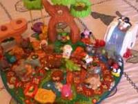 This is a gently used fisher price little people set.