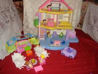 "Up for Sale is:  Fisher price ""My First Dollhouse"", 3"