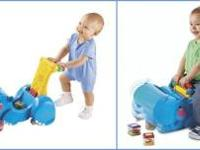 Fisher Price Peek a Blocks Gobble & Go Hippo Baby can