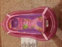 Like new fisher-price pink sparkle tub. Please call