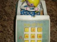 Fisher Price Pop Up Pal (1968) Little Girl Pops up when