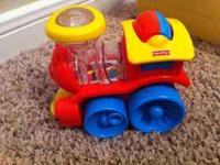 Poppity train made by Fisher Price. Beads enclosed in