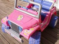 I am parting out this Fisher Price Power Wheel - Barbie