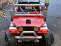 Fisher Price Power Wheels Fire Rescue Jeep 4 x 4 2