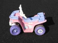 Used pink Fisher Price Power Wheels Lil Quad. It has