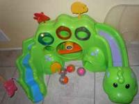 Fisher Price Roll a Rounds Drop and Roar Dinosaur!! Not