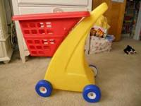 Red & Yellow Fisher Price Shopping Cart in great