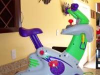 For sale is a Fisher Price Smart Cycle with one game.