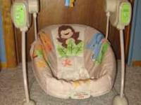 I am selling my 5 month old sons swing because he is