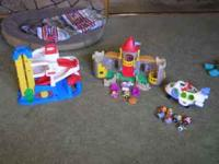 Included are the Fisher Price plane with people, Fisher