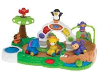 A zoo themed activity center is loaded with fun play