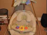 Fisher-Price Nature's Touch cradle swing. Good